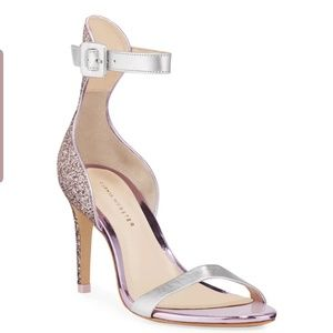 Sophia Webster -- Mid-Heel Glitter Sandals